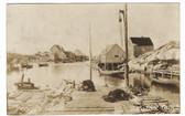Peggy's Cove, Nova Scotia, Canada Real Photo Postcard:  Harbor View