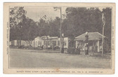 Cordele, Georgia Postcard:  Shady Park Camp & Gas Station