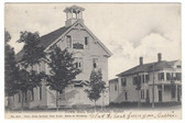 East Corinth, Maine Postcard:  Town Hall & Odd Fellows Hall