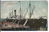 Charleston, South Carolina Postcard:  Foreign Vessel Loading Cotton