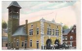Barre, Vermont Postcard:  Central Fire Station