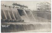 Delphi, Indiana Real Photo Postcard:  Oakdale Dam