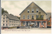 Alton Bay, New Hampshire Postcard:  Campground Boarding House