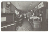 Bellows Falls, Vermont Postcard:  Interior of Mason Brothers Music Store