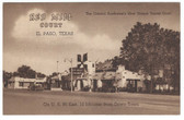 El Paso, Texas Postcard:  Red Mill Court & Coffee Shop