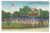 Kissimmee, Florida Linen Postcard:  Rodeo Motel