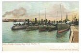 Norfolk, Virginia Postcard:  Torpedo Flotilla