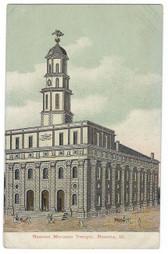 Nauvoo Illinois Postcard:  Nauvoo Mormon Temple