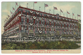 Newark, New Jersey Postcard:  Hahne's Department Store in American Flags