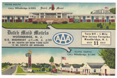 Woodbridge, New Jersey Linen Postcard:  Dutch Maid Motels