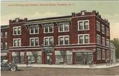 Frankfort, New York Postcard:  Union Building & Citizens' National Bank