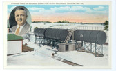 Lewiston, Maine Postcard:  Oil & Gasoline Storage Tanks in Back of Bell Service Station in Barkerville Neighborhood