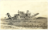 Helena, Montana Real Photo Postcard:  Dredging for Gold in Helena Valley