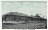 Hammond, Louisiana Postcard:  New Illinois Central Railroad Station