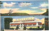 Harrisburg, Pennsylvania Postcard:  Riverview Diner