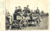 Crivitz, Wisconsin Real Photo Postcard:  Horse-Drawn Wagon at Caldron Falls