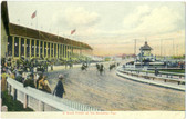 Brockton, Massachusetts Vintage Postcard: Brockton Fair Harness Racing