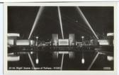 1939 New York World's Fair Real Photo Postcard:  Night Scene, Lagoon of Nations