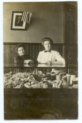 Boston, Massachusetts Real Photo Postcard:  Interior of Millinery Shop
