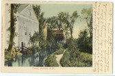 Antrim, New Hampshire Postcard:  Canal
