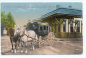 Twin Mountain, New Hampshire Postcard:  Railroad Station & Stage Coach