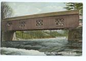 Athol, Massachusetts Postcard:  Old Covered Bridge
