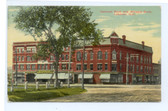 Lebanon, New Hampshire Postcard:  National Bank & Whipple Block