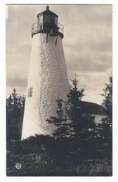Castine, Maine Real Photo Postcard:  Dyce's Head Lighthouse