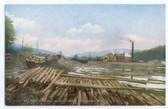 Johnson, New Hampshire Postcard:  Johnson Lumber Company