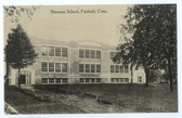 Fairfield, Connecticut Postcard:  Sherman School