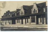 Billings, Montana Real Photo Postcard:  Union Depot