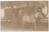 Auburn, Indiana Real Photo Postcard:  Auburn Delivery Co. Horse-Drawn Wagon.