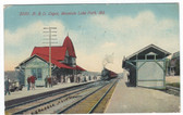 Mountain Lake Park, Maryland Postcard:  B. & O. Train Station
