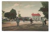 East Longmeadow, Massachusetts Postcard:  The Center & Trolley Car