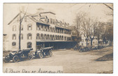 Ashfield, Massachusetts Real Photo Postcard:  1911 Busy Day with Lots of Old Cars