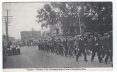 Framingham, Massachusetts Postcard:  Rookie Volunteers of the 9th Regiment Going to Camp