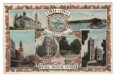 Fall River, Massachusetts Postcard:  1911 Cotton Centennial Carnival Multiview