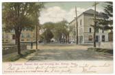 Melrose, Massachusetts Postcard:  The Colonial, Masonic Hall, & Wyoming Avenue