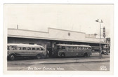 Chehalis, Washington Real Photo Postcard:  Bus Depot