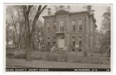 Menomonie, Wisconsin Real Photo Postcard:  Dunn County Court House