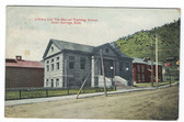 Idaho Springs, Colorado Postcard:  Library and the Manual Training School