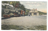 Alton Bay, New Hampshire Postcard:  Train Station