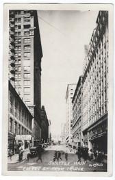 Seattle, Washington Real Photo Postcard:  Cherry Street