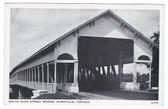 Rushville, Indiana Postcard:  South Main Street Covered Bridge