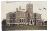 Bremen, Indiana Real Photo Postcard:  Public School
