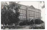 Fennimore, Wisconsin Real Photo Postcard:  High School