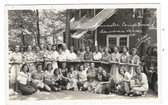 Lancaster, Ohio Real Photo Postcard:  1938 Lavona W.F.M.S. at Campground