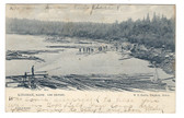 Kingman, Maine Postcard:  Log Driving