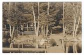 North Belgrade, Maine Real Photo Postcard:  Snug Harbor Camps