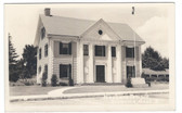 Billerica, Massachusetts Real Photo Postcard:  Masonic Temple